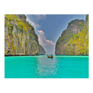 boat in Kho Phi Phi bay Postcard