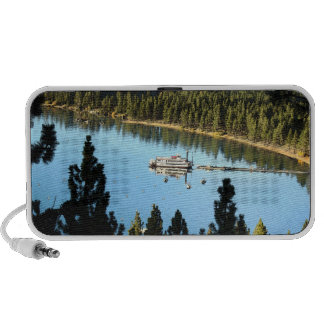 Boat In The Lake Notebook Speakers