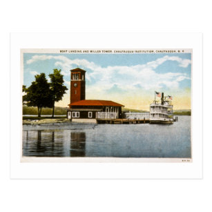 Boat Landing and Miller Tower Postcard