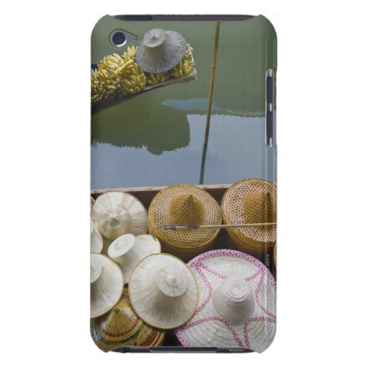 Boat loaded with bamboo hats at floating market iPod touch covers