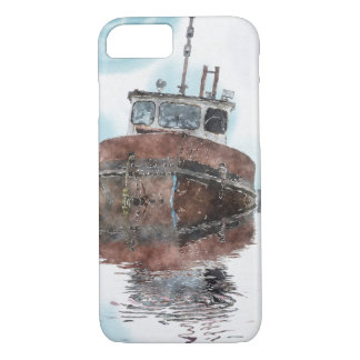 Boat-lovers Fishing Trawler Watercolour Art Series iPhone 7 Case