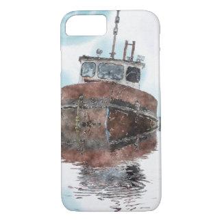 Boat-lovers Fishing Trawler Watercolour Art Series iPhone 8/7 Case