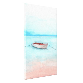 Boat of Elafonisi waters Canvas Print