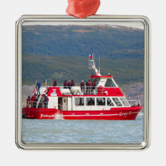 Boat on Lago Grey, Patagonia, Chile Metal Ornament