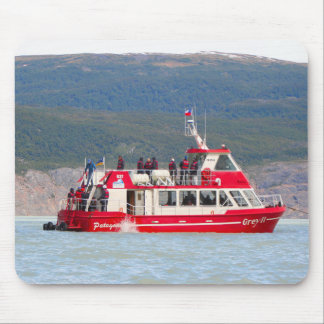 Boat on Lago Grey, Patagonia, Chile Mouse Pad