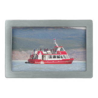 Boat on Lago Grey, Patagonia, Chile Rectangular Belt Buckle