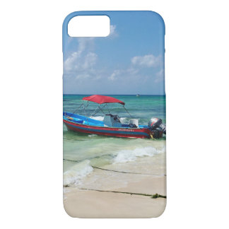 Boat on Playa Del Carmen in Mexico iPhone 8/7 Case