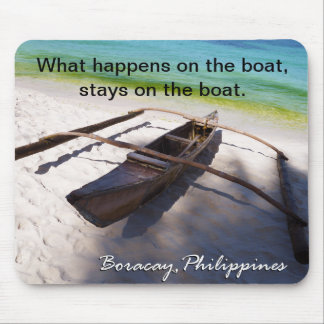 Boat on the Beach Boracay Philippines Mousepad