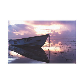 Boat on the Beach | Ocean | Shoreline Canvas Print