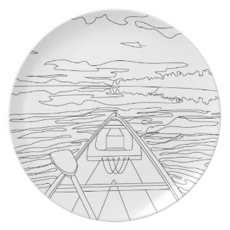 Boat on the lake plate