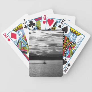 Boat on the water bicycle playing cards