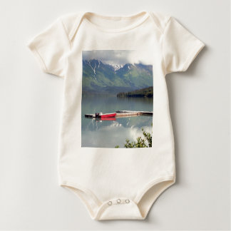 Boat on Trail Lake, Alaska Baby Bodysuit