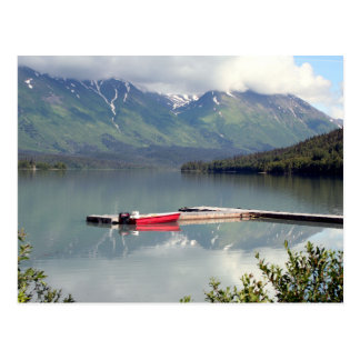 Boat on Trail Lake, Alaska Postcard