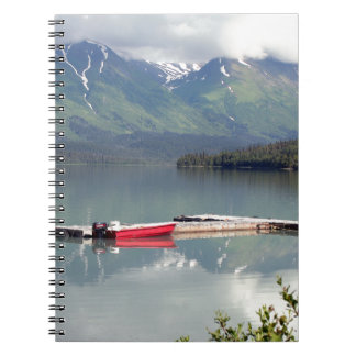 Boat on Trail Lake, Alaska Spiral Notebook