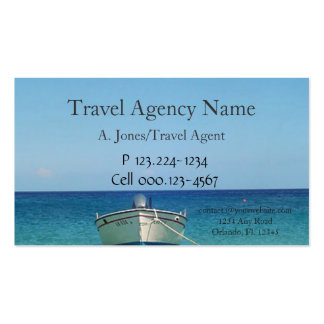 Boat on Water Travel Agency Pack Of Standard Business Cards