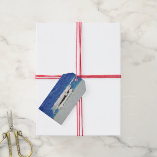Boat painting gift tags