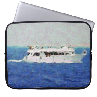 Boat painting laptop sleeve
