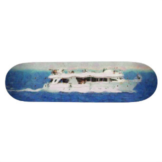 Boat painting skateboard decks