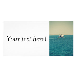 Boat Personalized Photo Card