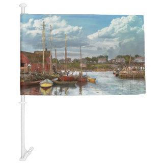 Boat - Rockport Mass - Motif Number One - 1906 Car Flag