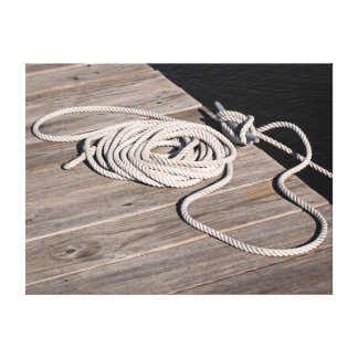 Boat Rope Tie Down Canvas Print