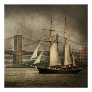 Boat - Sailing - Clipper City Poster