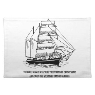 boat saying on the seas placemat