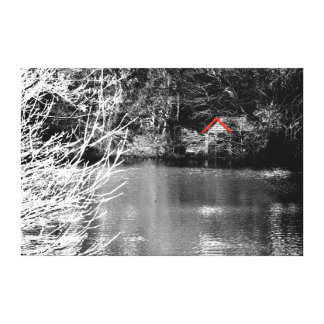 Boat shed canvas print