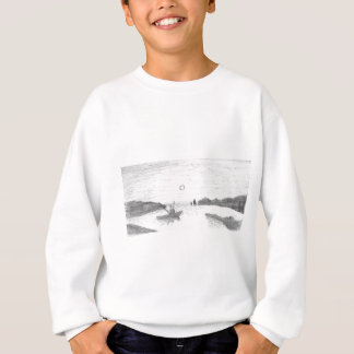 boat silhouette sweatshirt