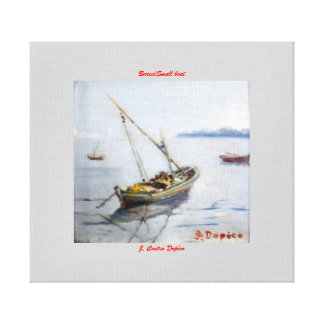 Boat/Small boat Stretched Canvas Print