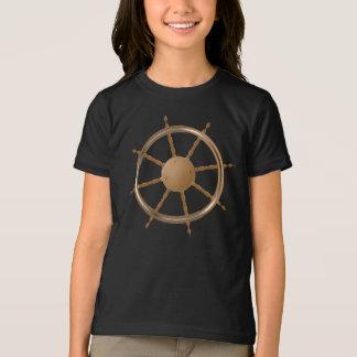 Boat Steering Wheel Girls T-Shirt
