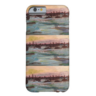 Boat sunset paintings barely there iPhone 6 case