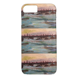 Boat sunset paintings iPhone 8/7 case