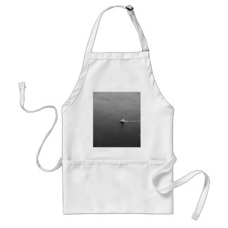 Boat Themed, Back And White Sailing Boat Captured Standard Apron
