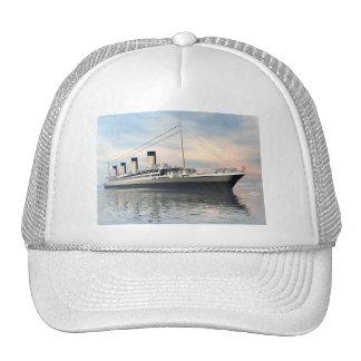 boat_titanic_close_water_waves_sunset_pink_standar cap