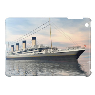 boat_titanic_close_water_waves_sunset_pink_standar case for the iPad mini