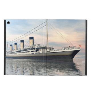 boat_titanic_close_water_waves_sunset_pink_standar iPad air case