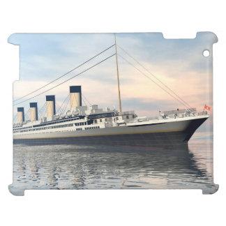 boat_titanic_close_water_waves_sunset_pink_standar iPad case