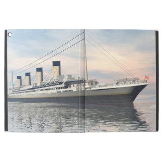 "boat_titanic_close_water_waves_sunset_pink_standar iPad pro 12.9"" case"