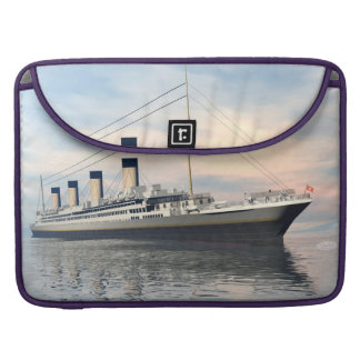 boat_titanic_close_water_waves_sunset_pink_standar MacBook pro sleeves