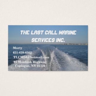 Boat Wake Business Card