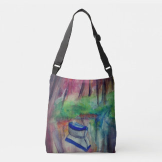 Boat Watercolor  All-Over-Print Cross Body Bag