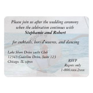 Boat Wedding Reception Invitation Enclosure Business Cards