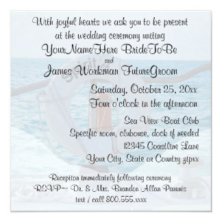 Boat Wedding with RSVP Card