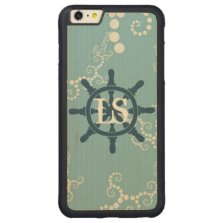 Boat Wheel Carved Maple iPhone 6 Plus Bumper Case