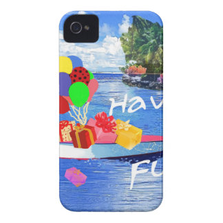 Boat with gift Have fun. Case-Mate iPhone 4 Cases