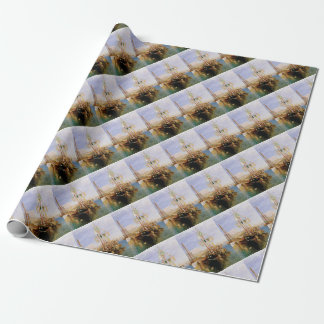 boat without sails wrapping paper