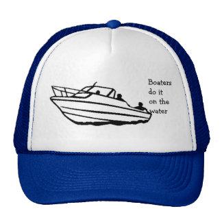 Boaters do it on the water trucker hat
