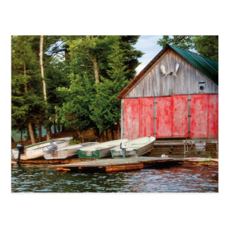 """Boathouse"", Canada Outdoors Landscape Photo Postcard"