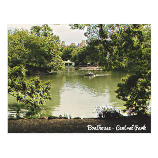 Boathouse Central Park Postcard